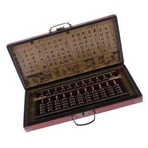 Sharplace Abacus Chinois En Bois De Style Vintage, Calculatrice Lucky Chinoise Avec étui De Rangement, 55 Perles, 11 Colonnes - Publicité