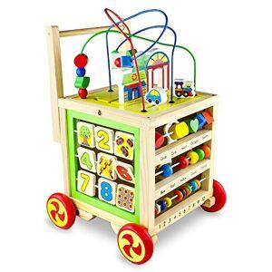 Symiu Trotteur Bébé Garcon Fille Porteur Trotteur Bois Pousseur Jouet Bois Montessori Cube D'activité en Bois 7 en 1 Jeux Bebe Premier ge - Publicité