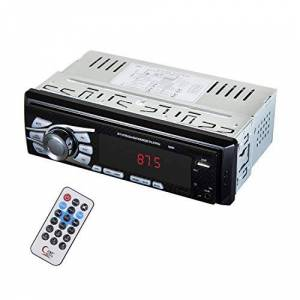 ZOSHING Autoradio Bluetooth 12-24V Autoradio 1 Din 4x50W,Support FM/USB/TF/AUX in/Bluetooth/Télécommande - Publicité