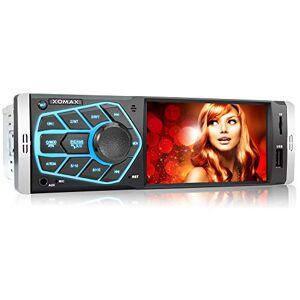 """XOMAX XM-V418 Autoradio avec écran 4.1"""" / 10 cm I Bluetooth   USB, SD, AUX   RDS   Connexions pour caméra de recul et télécommande au Volant I 7 Couleurs d'éclairage   1 DIN - Publicité"""