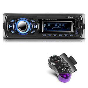 KYG Autoradio Bluetooth Main Libre Radio Voiture avec 2 Ports USB et MMC Card Slot, Supporte Max 32G de Mémoire Lecteur FM MP3 USB SD WMA AUX Télécommande, 7 Couleurs d'éclairage - Publicité