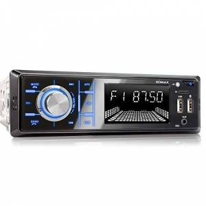 XOMAX XM-RD273 Autoradio avec Dab+ et antenne I Recharge de téléphone Portable Via 2me Port USB I Mains Libres Bluetooth I RDS I 2X USB, SD, AUX I 1 DIN - Publicité