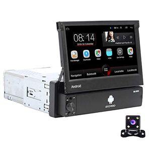 CAMECHO Android Autoradio 1 Din GPS  7 Pouces Flip Out cran Tactile capacitif Bluetooth FM Radio WiFi La Navigation Lien Miroir pour Téléphone Android iOS + Caméra de recul - Publicité