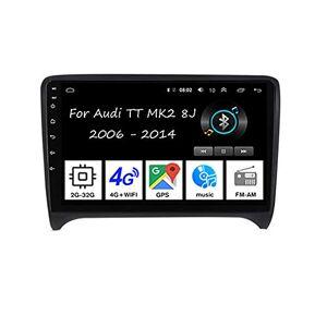"""MRWJ Autoradio Android avec écran tactile 9"""" Radio GPS Navigation 4 curs 2G + 32G pour Audi TT MK2 8J 2006-2014 Accessoires de voiture Plug and Play Prend en charge le contrle du volant TPMS - Publicité"""