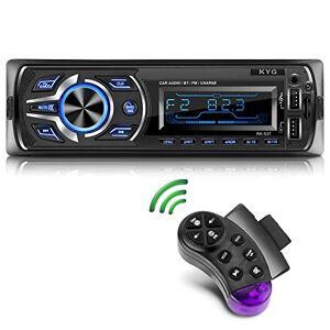 KYG Autoradio Bluetooth Main Libre Radio Voiture avec 2 Ports USB et MMC Card Slot, Stéréo Radio Supporte Max 32G de Mémoire Lecteur RDS FM MP3 USB SD WMA AUX Télécommande, 7 Couleurs d'éclairage - Publicité