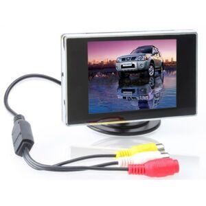 BW TFT Voiture écran LCD numérique de Voiture arrire View Monitor, Voiture Moniteur de stationnement pour Voiture/Automobile et véhicules de Secours Caméras 3,5 Pouces - Publicité