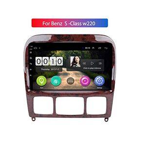 WY-CAR Autoradio Navi GPS Stéréo Android 8.1 Autoradio pour Mercedes Classe S W220 S280 S320 S350 S400 S430 S500 S600 AMG 1998-2005, Commande Au Volant - Publicité
