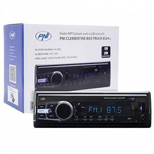 PNI Radio MP3 Player Car  Clementine Bus Truck 8524BT 4x45w 12V / 24V 1 DIN CU SD, USB, AUX, RCA SI Bluetooth 24 Volt - Publicité