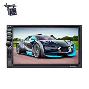 LSLYA Bluetooth Car Radio, Auto Radio Double 2 Din Voiture cran Stéréo Bluetooth 7 '' Navigation GPS Tactile MP5 / TF/SD/USB/Media Player Contrle de Volant/Tuner FM/AM/RDS et HD Radio, Noir - Publicité