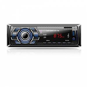 Aigoss Autoradio Bluetooth, 4 x 60W Voiture Stéréo FM Radio, Lecteur MP3 Poste Radio Voiture, Universelle Récepteur Conversation Mains Libres AUX/Carte SD/USB/Smartphone - Publicité