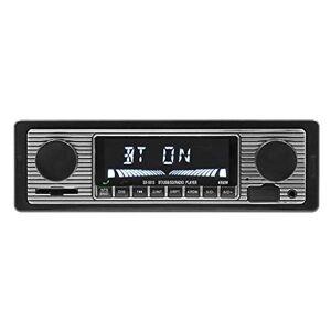 perfk Autoradio Vintage Bluetooth 12V 1 Din Lecteur MP3 Stéréo USB AUX Classique, Récepteur Multimédia Numérique - Publicité