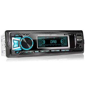 XOMAX XM-RD275 Autoradio avec Dab+ Radio I Connexion la Bluetooth et Musique I Port USB (jusqu'à 128 GB) et Fente pour Cartes SD (jusqu'à 128 GB) I MP3 WAV I Entrée AUX I 1DIN I Tiroir métallique - Publicité