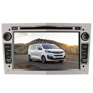 AWESAFE Autoradio pour Opel Voiture GPS Navigateur 7 Pouces unité de tte stéréo Voiture 2 Din avec Lecteur de CD DVD USB SD Bluetooth 720P Video FM AM RDS Wince Systme Gris - Publicité