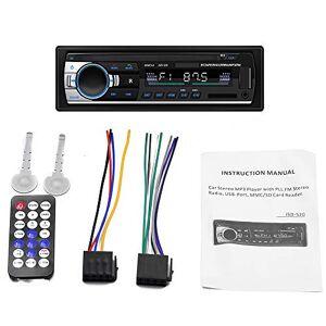 Gamogo JSD-520 Lecteur Audio de Voiture BT Autoradio Stéréo Autoradio 12V Récepteur d'entrée auxiliaire FM Fente pour Carte SD USB MP3 MMC WMA - Publicité