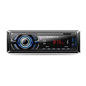 Hoidokly Autoradio Bluetooth 1 Din 4 x 60W Mains Libres Universelle Radio de Stéréo Voiture Récepteur MP3 de Lecteur FM/USB/SD/WMA/AUX + SWC Télécommande, 7 Couleurs d'Eclairage - Publicité