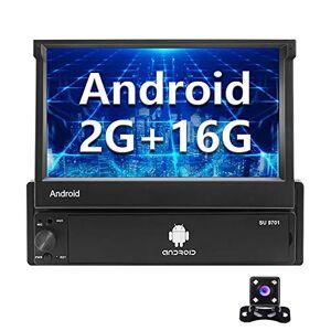 CAMECHO Android Autoradio 1 Din GPS 2G+16G  7 Pouces Flip Out cran Tactile Bluetooth FM Radio WiFi La Navigation Lien Miroir pour téléphone Android iOS + Caméra de recul - Publicité
