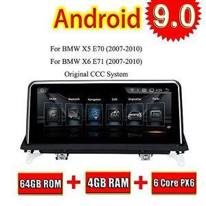 TOPNAVI 64GB Android 9.0 Système multimédia Central pour BMW X5 E70 X6 E71 2007 2008 2009 2010 Radio Auto Stéréo GPS Navi 3G WiFi Lien Miroir RDS Pas de DVD CD IPS Screen - Publicité