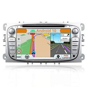 YUNTX Android 10 Autoradio Compatible avec Ford Focus/Mondeo/S-Max/Connect (2008-2011)   GPS 2 Din  Caméra arrire et Canbus GRATUITES  7 Pouces   2GB/32GB  Dab+ USB 4G WLAN Bluetooth MirrorLink - Publicité