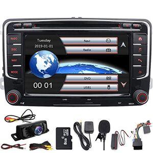 """FOIIOE 17,8cm/ 7"""" double DIN EN Dash Autoradio stéréo pour VW Volkswagen Golf Passat Polo Jetta Tiguan EOS Scirocco Touran Skoda Seat avec lecteur DVD Navigation GPS USB SD FM AM RDS radio Bluetooth SWC - Publicité"""