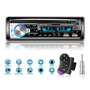 Lifelf Autoradios Bluetooth Radio Voiture Récepteur avec Lecteur MP3 WMA FM Télécommande, Deux USB Port, Soutien iOS, Android - Publicité