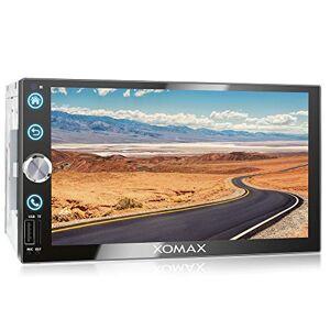 """XOMAX XM-2V766 Autoradio I Moniceiver I Fonction sans Fil Bluetooth I cran Tactile de 7"""" 18cm I Miroir de l'écran avec Android I FM Tuner I USB I 2 DIN - Publicité"""