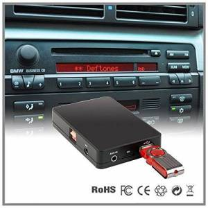 LaPower Cassette adaptatrice de changeur de CD vers AUX USB SD MP3 pour autoradio de voiture BMW Série 5E39série 7E38 Business Cassette - Publicité