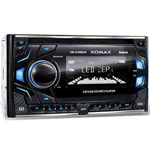 XOMAX XM-2CDB620 Autoradio avec Lecteur CD I Mains Libres Bluetooth I RDS I 3 Couleurs réglables (Rouge, Bleu, Vert) I USB, Micro SD, AUX I 2X Connexion pour subwoofer I 2 DIN - Publicité