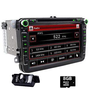 FOIIOE Double DIN GPS de voiture stéréo numérique 20,3cm DVD de voiture dans Dash USB/SD FM AM RDS Autoradio BT Autoradio pour VW Golf 56Polo Jetta Touran EOS Passat CC Tiguan Sharan Scirocco Caddy - Publicité