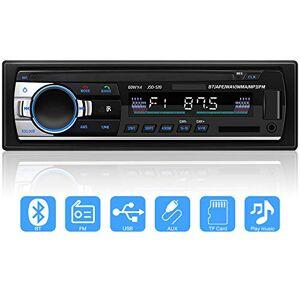 YYKJ Autoradio Bluetooth Mains Libres,  1 DIN Radio Voiture Récepteur Support FM/USB/MP3/WMA/AUX/TF/SD +Télécommande, 4 x 60W, 7 Couleurs d'Eclairage, Soutien iOS, Android - Publicité