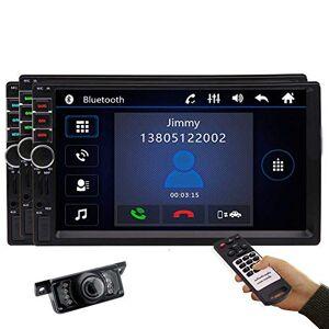 EINCAR Radio Bluetooth  écran tactile stéréo pour voiture Double Din pour voiture Lecteur vidéo MP5 avec lien de miroir de navigation GPS AUX Audio FM USB SD SWC vidéo Carte de 8 Go Caméra de recul gratuite - Publicité