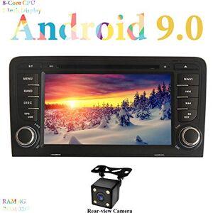 """XISEDO Android 9.0 Autoradio 2 Din 7"""" Voiture Radio  cran Tactile 8-Core RAM 4G ROM 64G Car Radio Systme de Navigation GPS avec Lecteur de DVD pour Audi A3 2003-2011 avec Caméra de Recul - Publicité"""