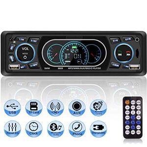 MEKUULA Autoradio USB Bluetooth Mains Libres,  Poste Radio Voiture 4x60W 1 Din MP3 Lecteur de Voiture Stéréo Soutient FM/USB/MP3/AUX/Bluetooth/Télécommande, Soutien iOS, Android - Publicité