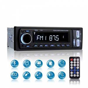 MEKUULA Autoradio FM Bluetooth,  Mains Libres 1 DIN Autoradio Stéréo Vidéo, Soutien Bluetooth/USB/SD/AUX/EQ / MP3 / TF + télécommande - Publicité