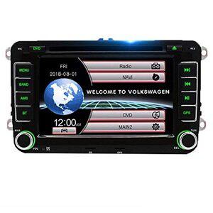 KLL Lecteur Videacute;o Multimeacute;dia Eacute;Cran Tactile Voiture Systegrave;me de Navigation GPS Autoradio Fit pour VW Golf 6 5 Passat b7 CC b6 Seat Skoda Bluetooth Tuner AM/FM - Publicité