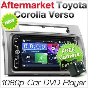 """tunez Tuner 7""""Pouces au Tableau de Bord vidéo Double Voiture DVD MP3 MP4 Lecteur CD pour Toyota Corolla Verso 2004 2006 2006 2007 2008 Unité Principale  écran Tactile Radio - Publicité"""