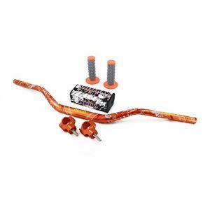 """YSMOTO Moto 1 1/8"""" 28mm Poignée Fat Guidon Bar + Riser Clamp + Pad Mont + Set Poignées pour Honda CR125R CR250R CRF250R CRF450R CRF450RX CRF250X CRF450X KAWASAKI KX125 KX250 KX250F KX450F SUZUKI RMZ250 - Publicité"""