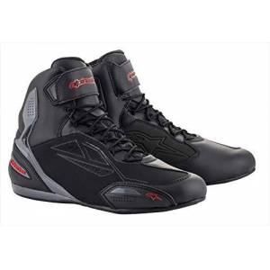 Alpinestars Bottes moto Faster-3 Drystar Shoes Black Gray Red, Noir/Gris/Rouge, 45 - Publicité