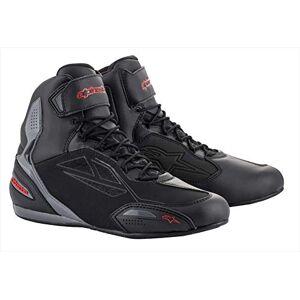 Alpinestars Bottes moto Faster-3 Drystar Shoes Black Gray Red, Noir/Gris/Rouge, 45 - Publicité