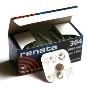 Renata 364 LOT DE 1 PILE SILVER OXIDE 1,5V - Publicité