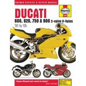 Haynes Publishing Haynes Ducati 600, 620, 750 & 900 2-valve V-twins '91 to '05 Service and Repair Manual - Publicité