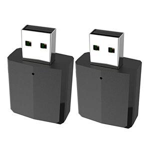 gazechimp 2x Bluetooth 5.0 USB Adaptateur Bluetooth Récepteur Audio Transmetteur Noir - Publicité