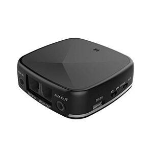 perfk Transmetteur Bluetooth et Adaptateur Audio Sans Fil avec Aptx, Prise D'entrée Audio 3,5 Mm pour Casques D'écoute, Systmes Stéréo pour La Maison, Haut - Publicité