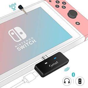 Smof Transmetteur Audio Bluetooth pour Nintendo Switch/Switch Lite PS4 PC, Adaptateur Audio Bluetooth avec aptX Faible Latence, Bluetooth 5.0 Adaptateur pour AirPods Bose Sony, double connexion - Publicité