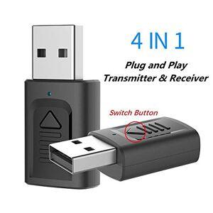 horen 2020 Nouveau Transmetteur Bluetooth 4-En-1 USB Récepteur Bluetooth 5. 0 Ordinateur TV metteur Audio Compatible avec PC / TV / Systme Audio de Voiture / quipement Audio Haut-Parleur Filaire - Publicité