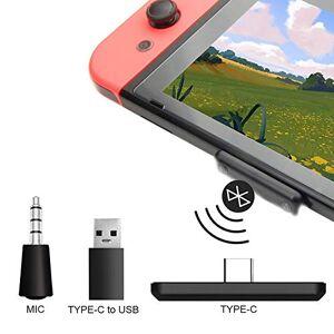 ZHSONG Adaptateur audio Bluetooth pour transmetteur PC Nintendo Switch Lite PS4, prise en charge du chat vocal en jeu metteur audio sans fil  faible latence pour haut-parleurs de casque sans fil - Publicité