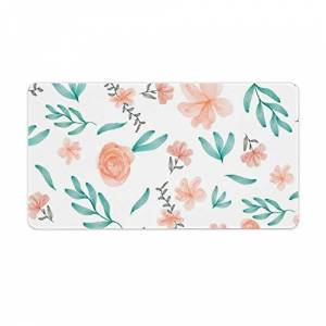 Viowr22iso Extended Gaming Mouse Pad with Stitched Edges Waterproof Large Keyboard Mat Non-Slip Rubber Base Spring Coral Green Floral Watercolor Pattern Desk Pad for Gamer Office Home 16x10 Inch - Publicité