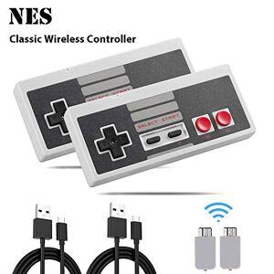 Kyerivs Manette sans Fil pour NES Mini Classic Edition, 2.4G Rechargeable Manette de Jeu sans Fil pour Nintendo Mini NES Classic Edition (2 pices) - Publicité