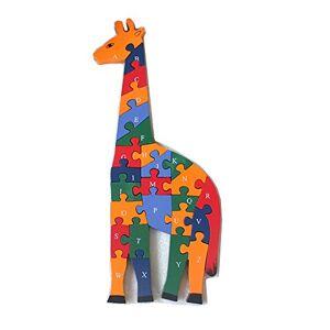 FunnyGoo Girafe en Bois Alphabets et numéros Puzzle Jigsaw Blocs Chiffres et Lettres Jouets d'apprentissage précoce - Publicité