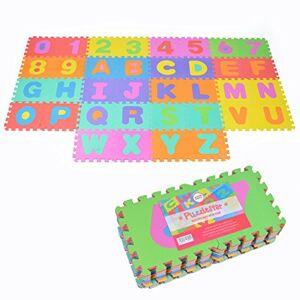 Pink Papaya Puzzlestar XXL, Tapis Puzzle de 86 pices pour Enfants en EVA antidérapant Le Grand Tapis de Jeu Peut tre monté, Chaque pice est de 30x30x1cm Tapis Puzzle pour Enfants avec Chiffres et Lettres - Publicité