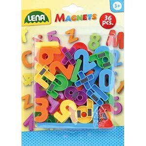 SIMM Spielwaren Lena 65747 36 Aimants Chiffres et Lettres, env.  3 cm - Publicité